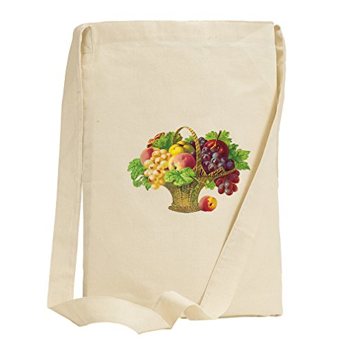 Mix Fruit Basket Canvas Sling Tote Bag (Fruit Gift Baskets Tampa)