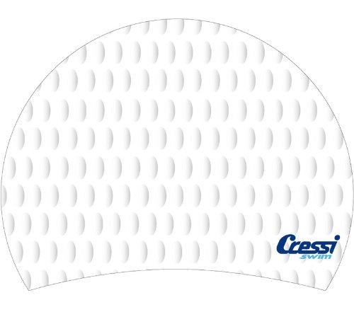 Cressi Silicone Bubble Swim Cap - White