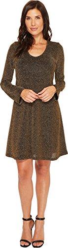 Knit Karen Kane (Karen Kane Women's Knit Taylor Dress, Gold, L)