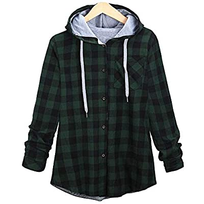 YOcheerful Plus Size Womens Coat Gilet Bomber Jacket Girl Long Sleeve Outwear Hooded Cardigan