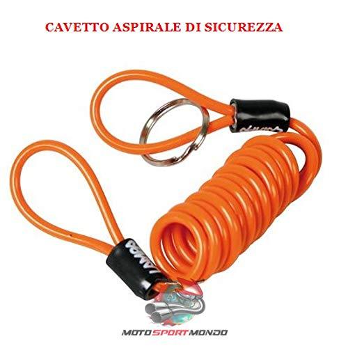 LUNGHEZZA 150 CM COLORE ARANCIO CAVETTO BLOCCADISCO DI SICUREZZA REMINDER LAMPA 90616 /Ø 4 MM