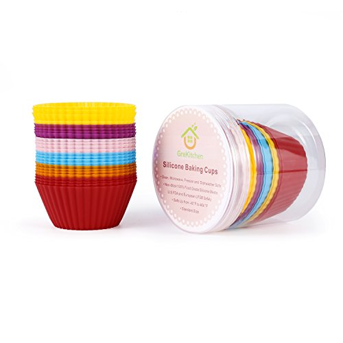 GreKitchen 24 Pack Vibrant Round Reusable and N...