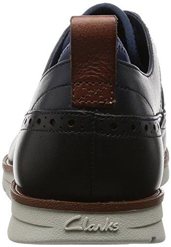 Navy Trigen Uomo Clarks Limit Blu Leather Stringate Scarpe TwYaq