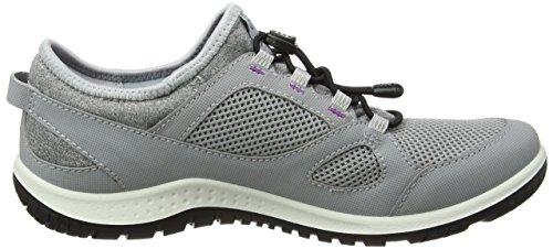 ECCO Womens Aspina Toggle Trail Runner Silver Grey/Silver Grey IdFpUpot