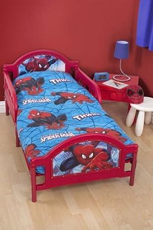 Spiderman Boys Junior Toddler Cot Bed Set 4 In 1