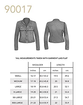 HOT FROM HOLLYWOOD Women's Button Down Long Sleeve Classic Outerwear Denim Jacket