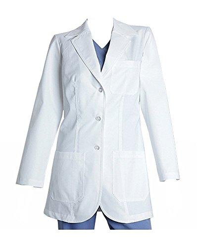 Coat Barco Lab - Whites 7403 32 in 3 pkt lab princess seam White M