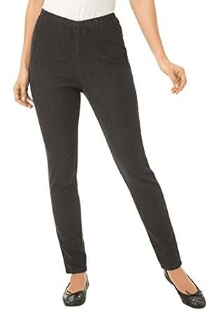 Women's Plus Size Legging Pull On Denim Black Denim,12 W