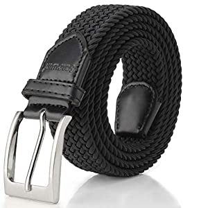 Elastic Braided Belt, Fairwin Enduring Stretch Woven Belt for Men/Women/Junior…