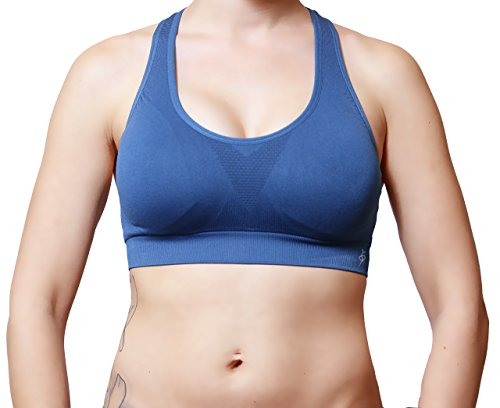 Vibrant Vixen Women's Sports Bra Yoga Top Padding Workout High Impact Support Active Wear (S/M, VB/1012-DEN)