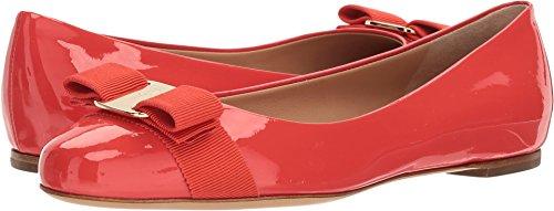 Salvatore Ferragamo Women's Varina Flats, Coral, 9 B(M) (Ferragamo Womens Shoes)