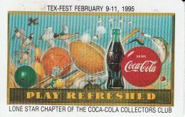 Coca-Cola Single Swap Playing Card Lone Star Chapter of the Collectors Club Tex-Fest February 9 - 11, 1995