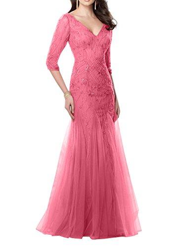 Perlen Braut mia Partykleider Ballkleider Etuikleider Abschlussballkleider Abendkleider Hochwertig Lang La Rosa Dunkel Meerjungfrau qtwy5c1dwH