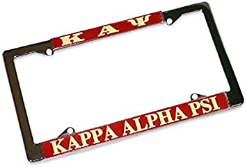 Kappa Alpha Psi Gold Plated Metal License Plate Frame