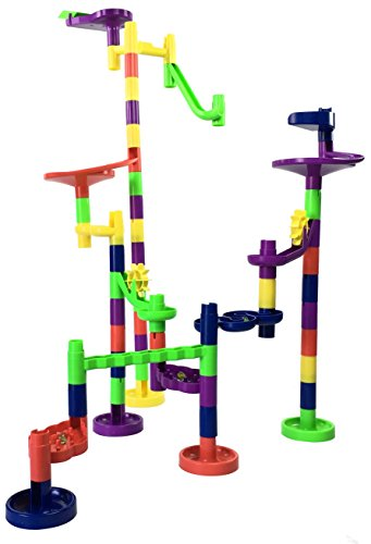 Mr. Marble Run Starter Set (48 Large Marble Run Pieces + 10 Glass Marbles) by Mr. Marble Run (Image #7)