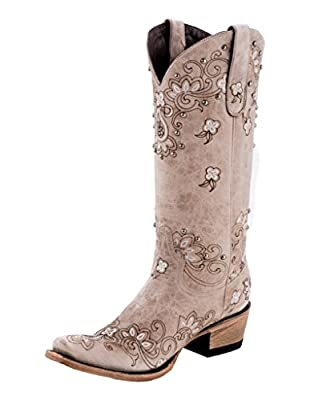 Lane Sweet Paisley Square Womens Western Mid Calf Boot