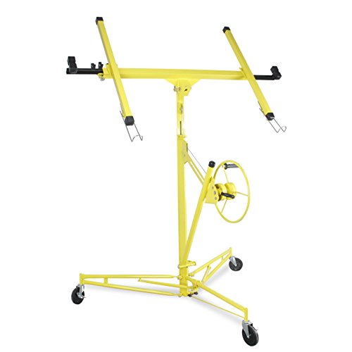 ARKSEN | Drywall Panel Lift | Dry Wall Panel Hoist | Lockable Lifter | Ceiling Max 11 FT | Angled Ceiling Max 15 FT | 150 LB Max | Caster Wheels | 65 Degree Tilt | Yellow by ARKSEN (Image #2)
