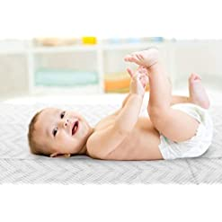 Large-Disposable-Baby-Diaper-Changing-Pads-100-Leak-Proof-Sanitary-Mats-for-Changing-Tables-Portable-Liners-for-Travel-Premium-Quilted-Waterproof-Change-Pad-Cover-2675x18-in-25-ct