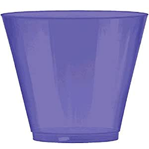 Amscan Big Party Pack New Plastic Cups, 9 oz., Purple