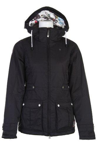 Burton TWC Puffy Snowboard Jacket True Black Womens Sz 3