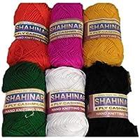 Generic Hand Knitting Art Craft Soft Cashmilon Yarn - Pack of 7