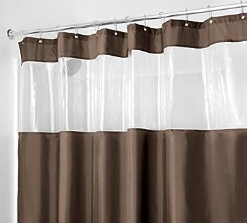 mDesign rideau de douche textile - rideau de douche anti-moisissure ...