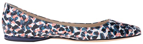Nine West Womens Speakup Synthetic Ballet Flat Blue/Multi Synthetic QT0EuwC