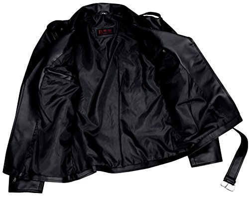 FaddyRox Riverdale Southside Serpents Black Faux Leather Jacket, L