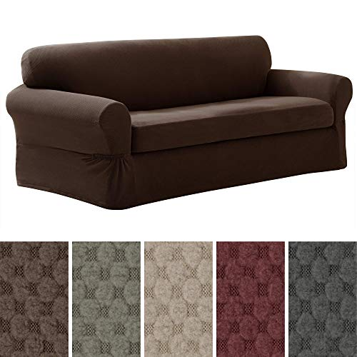MAYTEX Pixel Ultra Soft Stretch 2 Piece Sofa Furniture Cover