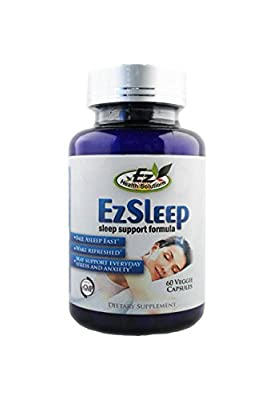 Ez Sleep Support Dietary Supplement With Melatonin, Valerian, Gaba, Inositol, L-Tyrosine, and more for Anti-Anxiety and Restful Sleep, 30 Capsules