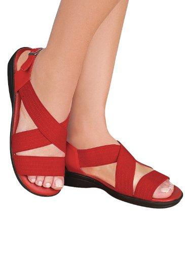 Sandali Con Cinturino Comfort Incrociato Rosso