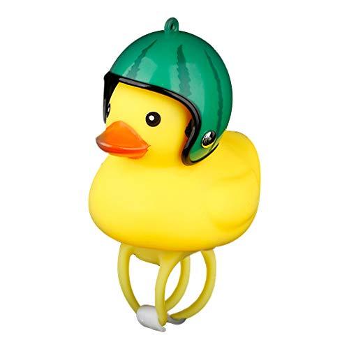 Ecosin Fashion Cartoon Duck Head Light Shining Duck Bicycle Bells Handlebar Bicycle Accessories (H) ()