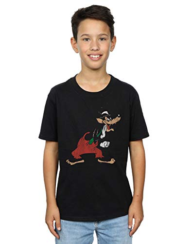 Disney Boys Three Little Pigs Big Bad Wolf T-Shirt Black 5-6 Years