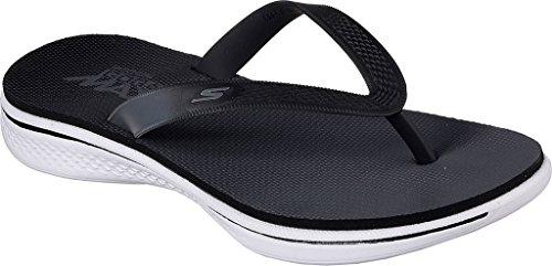Skechers H2 Goga Splash Sandalias Negro, Blanco Negro