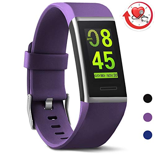MorePro X-Core Fitness Tracker HR, Waterproof Color Screen Activity Tracker with Heart Rate Blood Pressure Monitor, Smart Wristband Pedometer Watch with Step Calories Counter ()