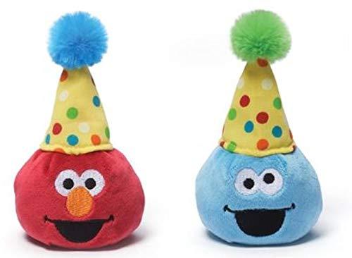 - Gund Sesame Street 3.5 inch Birthday Beanbag Pals (1 Elmo and 1 Cookie Monster)