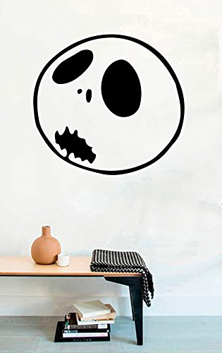 FSDS Vinyl Wall Decal - Pumpkin King Monster Dead Horror Jack Skellington Halloween Smiled - Home Decor Sticker Vinyl Decals