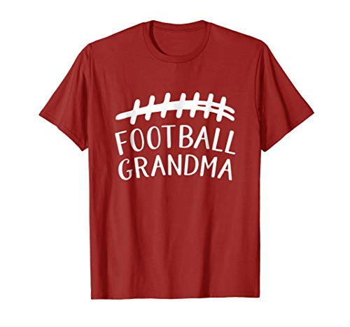 Football Grandma T-shirt with Laces (Best Pee Wee Football Defense)