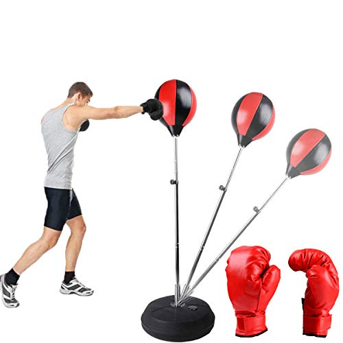 Reflex Bag Boxing Punching Speed Ball Bag Bring Support Height Adjustable Detached Firm Stress Relief Durable Movement…