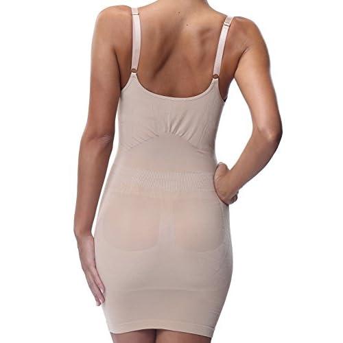 ac91dbad0d48b on sale Belugue Women s Seamless Shapewear Underbust Full Control Slip Dress