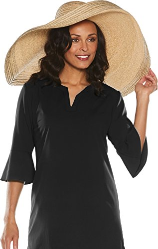 Coolibar UPF 50+ Women's Fabulous Brim Sun Hat - Sun Protective (One Size- Natural) by Coolibar