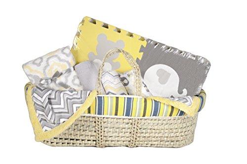 Tadpoles Baby Shower Gift Basket, - Partners Basket Moses Sleeping