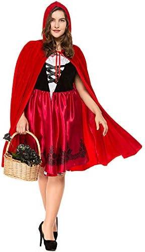 Gimitunus Gracioso Disfraz de Caperucita Roja para Mujer Adulta ...