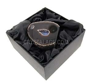 Ágata geoda (Natural) caja de regalo–Medium