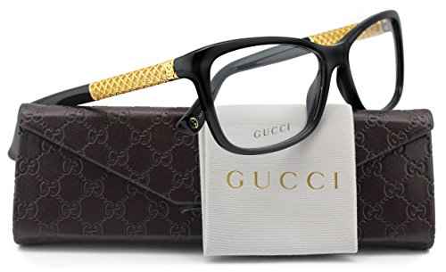 GUCCI GG3695 Eyeglasses Shiny Black (02XT) GG 3695 2XT FR 54mm - Authentic Glasses Gucci