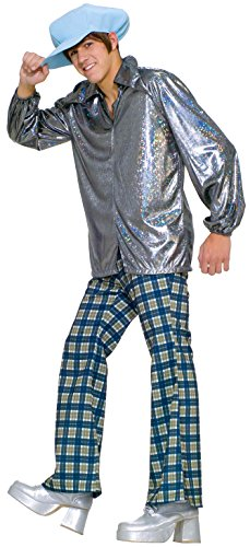 [Forum Novelties Men's 70's Disco Wacky N' Crazy Guy Costume, Multi, One Size] (Mens Disco Costumes Pants)