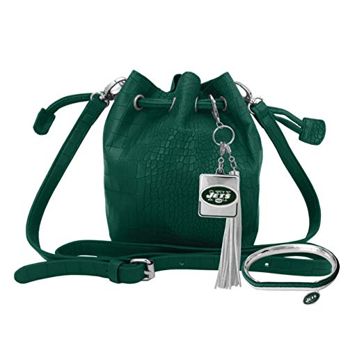 Littlearth NFL New York Jets Mini Bucket Bag and Hair Tie Bangle Gift Set