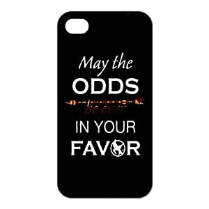 Black Iphone 4/4s Case - Hunger Games May the Odds Be Ever In Your Favor - Iphone 4, Iphone case, Iphone, iphone 4s, Case, iPhone Case