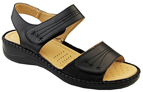 para mujer negro Calzado Plus PU estudio Annabelle sandalias EAA85vqr
