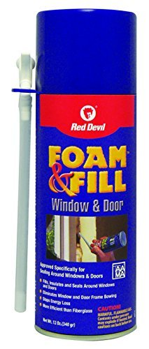 Red Devil 091412 0914 Fill Window & Door Foam Sealant, Case of 12 by Red Devil